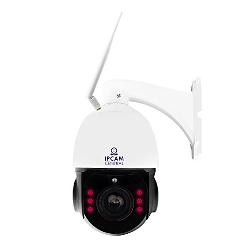 IPCC-7210W HDPro - 4x Optical Zoom, HD 2.0 Mega Pixel, WIFI, Plug and Play, Outdoor Dome PTZ IP Camera, Nightvision, Audio, Blueiris Compatible by IPCC