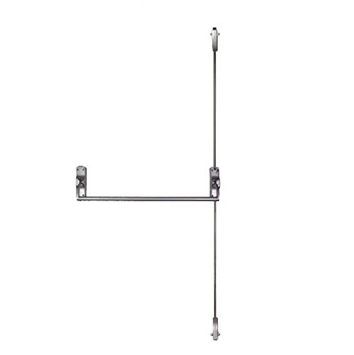 Global Door Controls ED-VR331-AL Trans Atlantic Ed-Vr531 Crash bar Vertical Surface Rod Exit Device In Aluminum,