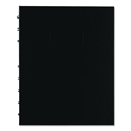Notepro Notebook - Blueline NotePro Quad & Ruled Notebook, Black, 9.25 x 7.25 inches, 192 Pages (A44C.81)
