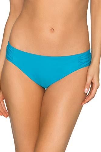 Sunsets Women's Femme Fatal Shirred Side Bikini Bottom Swimsuit, Poolside Blue, Extra - La Fashion Femme