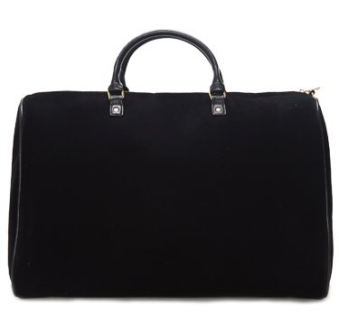 Limited Time Sale - Womens Black Velvet Weekender Bag, Duffle Bag, Overnight Bag, Travel Bag, Luggage, Large Tote Bag, Fashion Bag, Durable Bag, Best Handbag for women (Classic Black) - MSRP $99 by Lulu Dharma (Image #4)