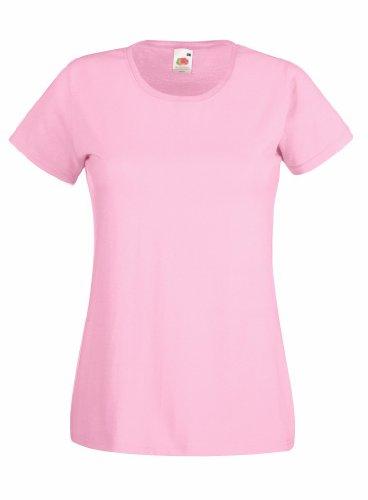 Fruit Of The Loom- Camiseta de manga corta Valueweight para mujer XX-Large,Pink - Light pink