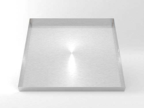 32'' x 30'' 2.5'' Heavy Duty Washer Machine Drain Pan, Stainless Steel Fine (No Hole) by DR Quality Parts (Image #3)
