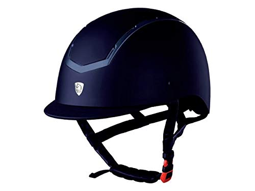bluee M bluee M TATTINI Rubber Coated Riding Cap with Shiny inserts
