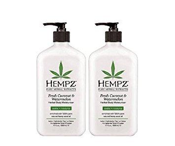 - Hempz herbal body moisturizer, pearl white, fresh coconut/watermelon, 17 Ounce,pack of 2