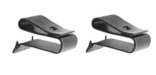 Radiator Fan Shroud Mounting Clips Set, Lower, Pair