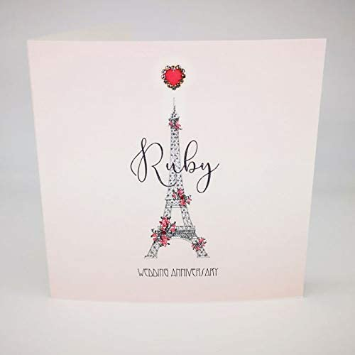 Five Dollar Shake RT31 Carte danniversaire de mariage avec inscription /« Ruby Wedding Anniversary /»