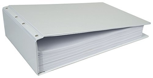 11x17 4'' Post, White Vinyl View Binder (520980) by Ruby Paulina LLC