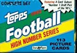 1992 Topps Football Factory High Series Sealed Set 113 Cards Complete