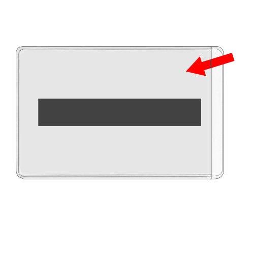 StoreSMART - Business Card Pocket with Magnet Strip - Open Short Side - 100 Pack - for Refrigerator, Filing Cabinet, or Locker - PE222M2-100 by STORE SMART