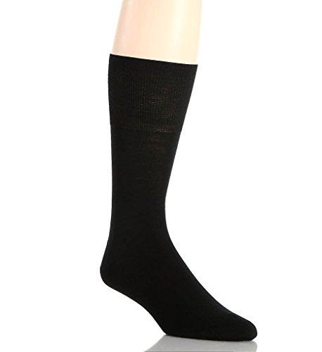 Falke Airport Mid-Calf Men's Business Dress Socks (Black, 11-12) (Airport Socks)