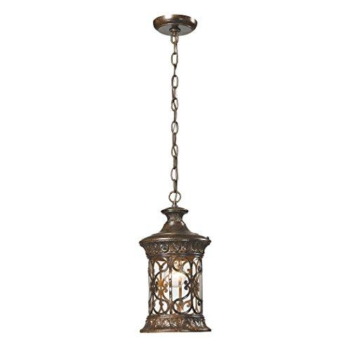 Alumbrada Collection Orlean 1 Light Outdoor Pendant In Hazelnut Bronze