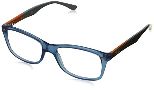 Ray-Ban RX5228 Square Eyeglass Frames, Blue/Demo Lens, 53 ()