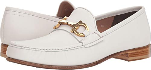 Salvatore Ferragamo  Men's Bond Bianco 10.5 E US (White Leather Ferragamo)