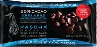 Pascha Organic Allergen-Free Semi-Sweet Dark Chocolate Chips 55 Percent Cacao 8.8 Ounce Pack of 6 (Total 52.8 Ounce) (Bakers Dark Chocolate compare prices)