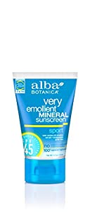 Alba Botanica Very Emollient, Facial Sunscreen SPF 30, 4 Ounce