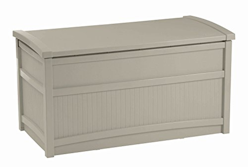 Deck Box Patio Suncast Pool Storage Resin Waterproof Bench