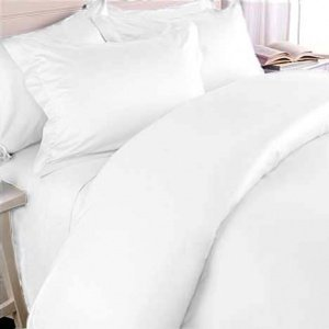 Twin/Twin Extra Long Solid White Wrinkle Free 650TC 100% Cotton Duvet Cover sets, include: One Duvet Cover and One Pillow Sham