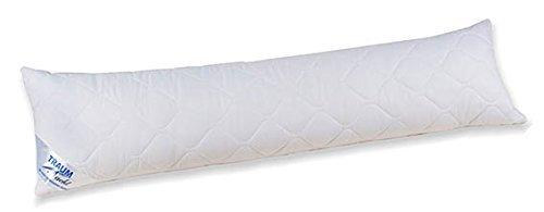 Traumnacht 03774854438 3-Star Seitenschläferkissen, weich und bequem, aus softer Microfaser, 40 x 145 cm, waschbar, weiß by Traumnacht