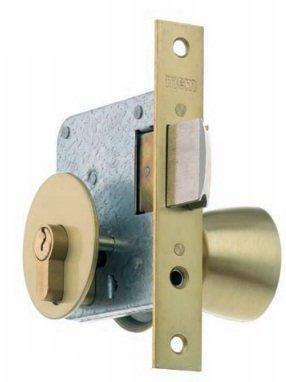 Mcm 1561-7-60 - Pomo cerradura entrada 60mm madera caoba