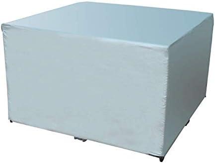 防水カバーガー ガーデン家具カバー アウトドア パティオセットカバー 防水 ヘビーデューティ 長方形 ガーデンテーブルカバー 、銀 シバオ (Size : 120x120x75cm)