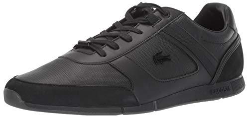 Lacoste Men's MENERVA Sneaker, Black, 9 Medium US (9 Shoes Black Lacoste)