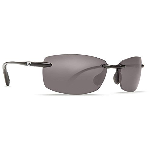 Costa Del Mar Ballast Polarized Sunglasses, Black, Gray 580 ()