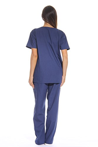 Just Love Women's Scrub Sets Six Pocket Medical Scrubs (V-Neck With Cargo Pant), Navy, X-Small by Just Love (Image #2)