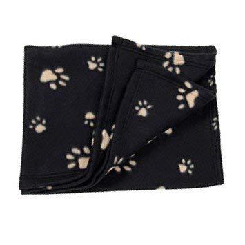 Purrfect Pet (TM) Pet Cat Dog Cover Throw Blanket (Medium, Black) Puurfect Pet ®
