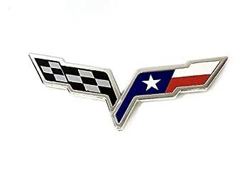 Southern Auto Parts >> Amazon Com C6 Corvette Texas Flag Emblem Overlay Fits Front