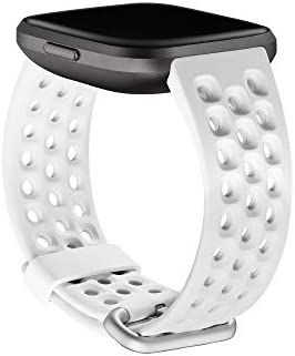 Fitbit Versa Family Accessory Band, Official Fitbit Product, Sport, Frost White, Large