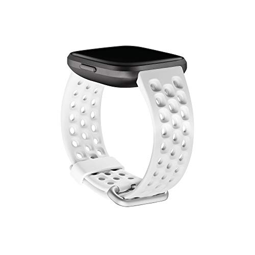 Fitbit Versa Family Accessory Band, Official Fitbit Product, Sport, Frost White, Small