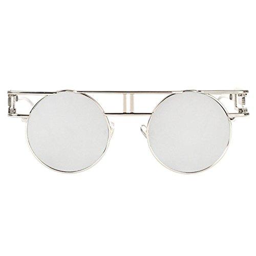 Aoligei Lunettes retro gothiques mans lunettes de soleil brillant réfléchissant lady rétro punk leL4W0bo