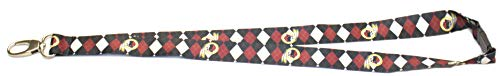 Pro Specialties Group NFL Washington Redskins Argyle Lanyard, Maroo/Black, One Size