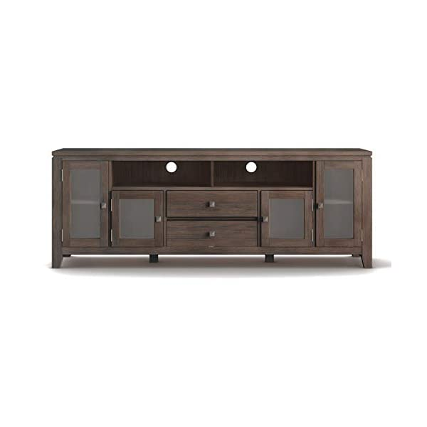 Simpli Home Cosmopolitan SOLID WOOD Universal TV Media Stand, 72 inch Wide, Contemporary, Storage Shelves and…