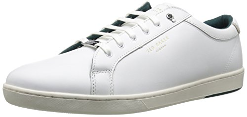 Ted Baker Men's Theeyo 3 Fashion Sneaker, White Leather, 14 M US (Leather Ted Sneakers)