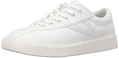 Tretorn Women's Nylite Plus Sneakers, White/White/White, 4 B(M) US