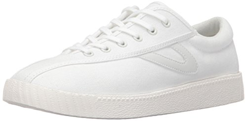 Tretorn Women's Nylite Plus Sneakers, White/White/White, 8 M US