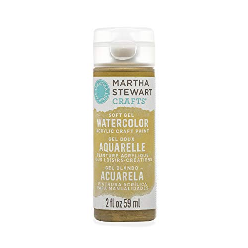 Martha Stewart Crafts Soft Gel Watercolor Acrylic Paint in Assorted Colors (2 Ounce), 33429 Metallic -