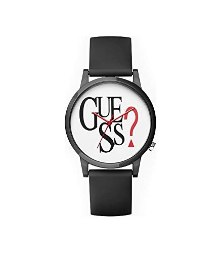 Guess Originals Black Logo Quartz White Dial Unisex Watch V1021M1