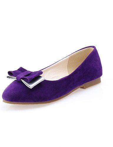 PDX/ Damenschuhe - Ballerinas - Lässig - Kunstleder - Flacher Absatz - Rundeschuh - Schwarz / Blau / Lila / Rot , purple-us8 / eu39 / uk6 / cn39 , purple-us8 / eu39 / uk6 / cn39