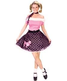 Fun World  Women's 50's Poodle Dress - Medium / (Sock Hop Sweetie Costumes)
