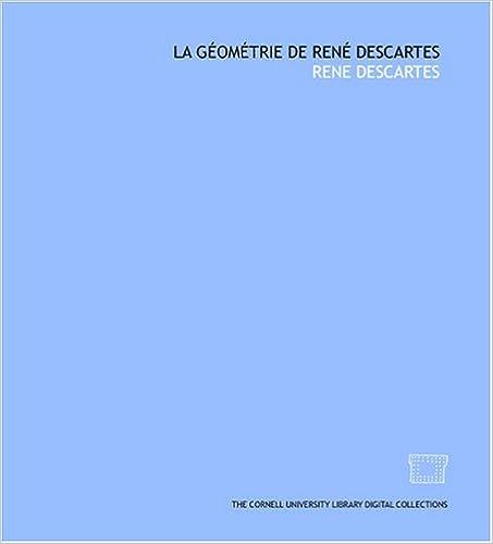 Book La géométrie de René Descartes