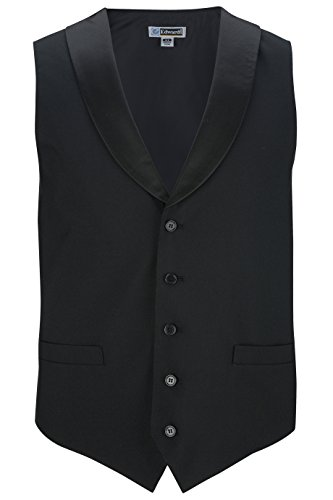 Edwards Men'S Satin Shawl Vest Black ()