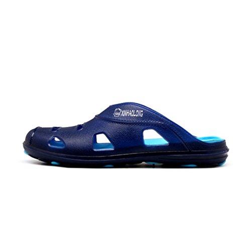 Sentao Hombre Zapatilla Ocio Verano Antideslizante Playa Sandalias Cómodo y Transpirable Zapatos Estilo 1