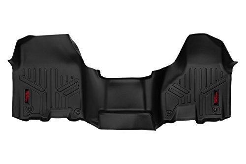 Rough Country - M-3131 - Heavy Duty Floor Mats - Front Set (All Cab Models w/Half Length Floor Console) Ram: 12-18 1500 4WD/2WD, 12-18 2500 4WD/2WD, 12-18 3500 4WD/2WD
