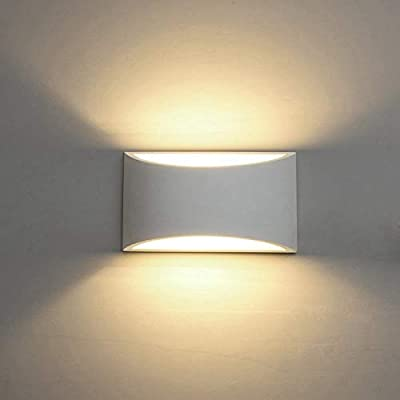 Modern LED Wall Sconce Lighting Fixture Lamps 7W Warm White 2700K Up and Down Indoor Plaster Wall Lamps for Living Room Bedroom Hallway Conservatory(with G9 Bulbs Not Dimmable)