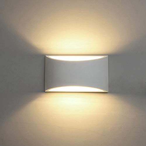 Modern LED Wall Sconce Lighting Fixture Lamps 7W Warm White 2700K Up and Down Indoor Plaster Wall Lamps for Living Room Bedroom Hallway Conservatory Home Room Decor(with G9 Bulbs Not Dimmable)