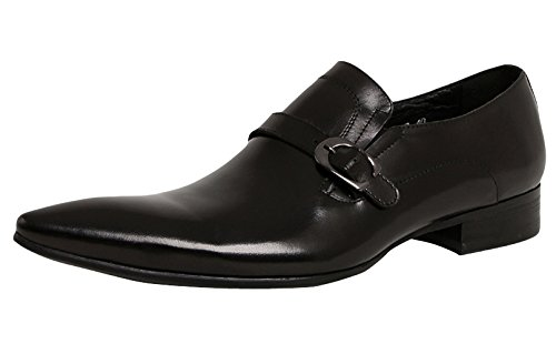Serdaomani Hombres Leather Fashion Point Toe Slip On Work Zapatos Oxford Negro