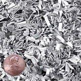 Krafty Klassics 1/2 lb (8oz) White/Silver Metallic Mix Crinkle Cut Crimped Paper Shred